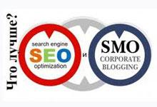 Как лучше раскручивать сайт через  SEO или SMO